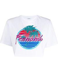 P.A.R.O.S.H. プリント Tシャツ - ホワイト