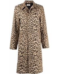 Zadig & Voltaire Leopard-print Single-breasted Trench Coat - Brown