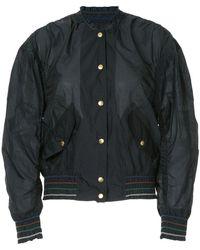 Kolor Buttoned Bomber Jacket - Black