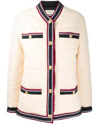 Gucci Web Trim Padded Jacket - Multicolor