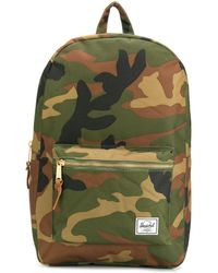 Herschel Supply Co. Settlement Camouflage Print Backpack - Green