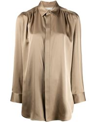 Bottega Veneta - ギャザー ロングラインシャツ - Lyst