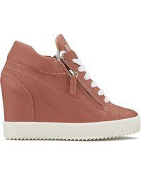 Giuseppe Zanotti Addy Wedge Sneakers - Pink