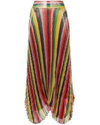 Alice + Olivia | Striped Pleated Skirt | Lyst