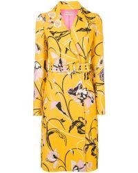 Emilio Pucci - Printed Belted Coat - Lyst