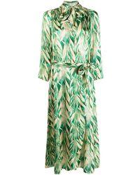 Forte Forte Printed Wrap Dress - Green