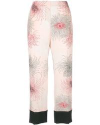 printed cropped trousers - Pink & Purple N°21 Cheap Sale 2018 Newest Cheap Sale Professional Clearance Latest Outlet Store Online Eastbay For Sale pgIR4Wah
