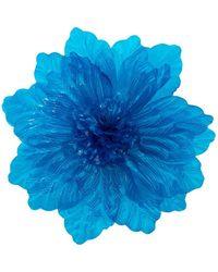 Molly Goddard Oversized Flower Brooch - Blue