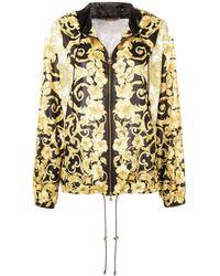 7d9273d825 Barocco Print Hooded Jacket - Black