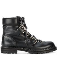 Jimmy Choo バックル装飾 ブーツ - ブラック