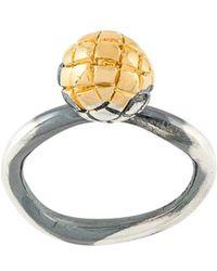 Bottega Veneta - Intrecciato Engraved Ring - Lyst