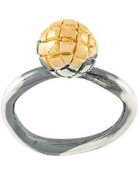 Bottega Veneta - Intrecciato Engraved Ring - Lyst