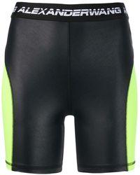T By Alexander Wang Logo Cycling Shorts - Black