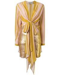 Silvia Tcherassi Knot Detail Gertrude Dress - Pink