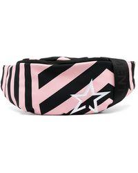 Perfect Moment Contrast-stripe Belt Bag - Pink