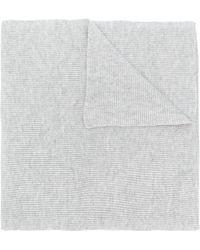 N.Peal Cashmere Sciarpa con design a coste - Multicolore
