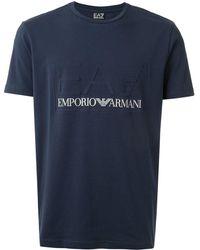 EA7 Ea7 エンボスロゴ Tシャツ - ブルー