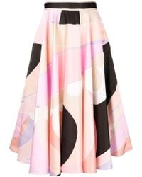 Emilio Pucci - Printed Midi Skirt - Lyst