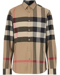 Burberry Oversized Check Shirt - Multicolour