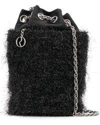 Rodo - Satin Tinsel Bucket Bag - Lyst