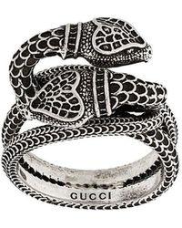 Gucci - Garden Ring mit Schlangenkopf - Lyst