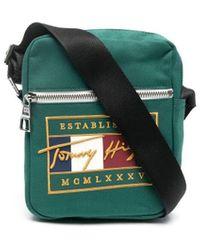 Tommy Hilfiger Сумка-мессенджер С Вышитым Логотипом - Зеленый