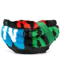 Kirin Faux-fur Logo Belt Bag - Black
