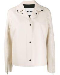 Jil Sander Nell Leather Jacket - Natural