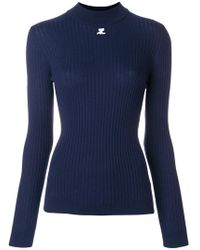 Courreges - Fitted Knitted Top - Lyst