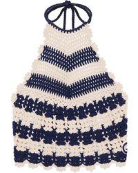 Gucci Crochet-knit Tank Top - Blue