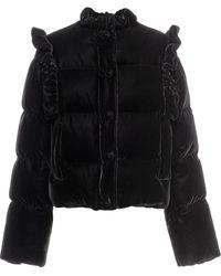 Miu Miu ベルベット パデッドジャケット - ブラック