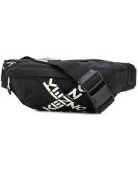 KENZO Logo Cross-strap Belt Bag - Black