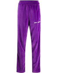 Palm Angels Purple Chenille Track Trousers