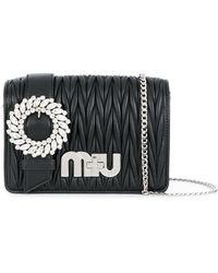 Miu Miu My Miu Shoulder Bag - Zwart