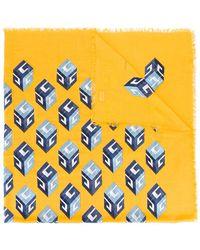 Gucci Wallpaper Print Shawl - Multicolour