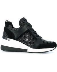 Michael Kors Georgie Woven Detail Sneakers - Black
