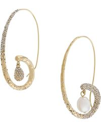 Givenchy Spiral Pearl Embellished Earrings - Multicolour