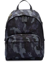 Prada Camouflage Print Backpack - Blue