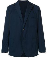 Issey Miyake Tailored Blazer Jacket - Blue