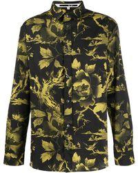 McQ Рубашка Свободного Кроя С Цветочным Принтом - Черный