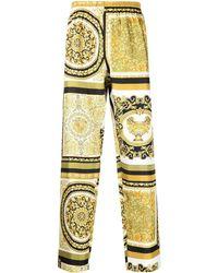 Versace Брюки С Принтом Baroque - Желтый