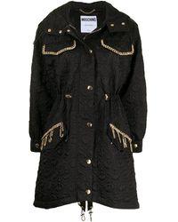 Moschino チェック シングルコート - ブラック