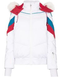 Sweaty Betty Powder Faux Fur Trim Ski Jacket - White