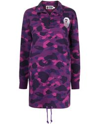 A Bathing Ape - Chemisier con stampa camouflage - Lyst