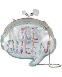Sophia Webster Ice Queen Speech Bubble Clutch Bag - Metallic