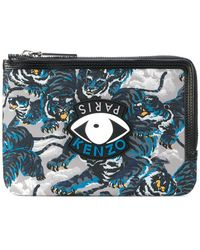 KENZO - Eye And Tiger Print Coin Purse - Lyst