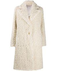 Pinko Manteau réversible à design texturé - Multicolore