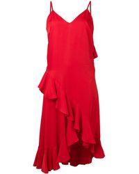KENZO ラッフル ドレス - レッド