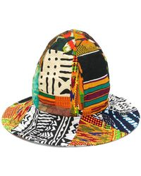 Engineered Garments - African Print Patchwork Dome Hat - Lyst 59b983ac2654