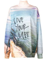 Marques'Almeida - Slogan Colour-block Sweater - Lyst